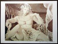 """Milo Manara """"Lucrezia Borgia"""" 2013 Original Pencil Lithograph cm. 38x28,5 First"""