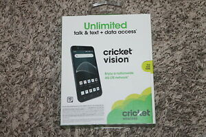 CRICKET WIRELESS CRICKET VISION 16GB PREPAID CELL PHONE DARK BLUE BRAND NEW