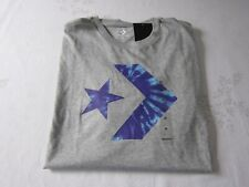 Men's Converse Graphic T-Shirt Tie Dye Logo Gray XL Cotton New W/T
