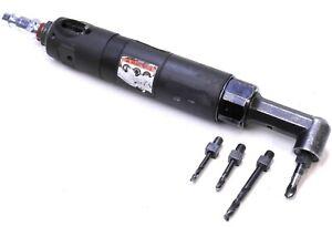 "Ingersoll Rand QA2759D Right Angle Drill 1/4""-28 2700 Rpm w/ Some Drill Bits"