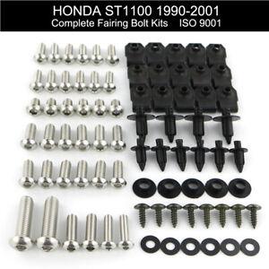 Fit For 1990-2002 Honda ST1100 2000 2001 Stainless Fairing Bolt Kit Body Screws