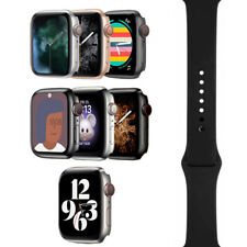 Apple Watch Series 5 - 40mm/44mm - All Case Colors - Black Sport Band - GPS/LTE