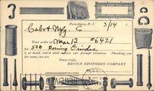 Providence RI Brown Bors Co Illustrated Postal Card 1903