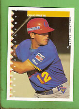1995 AUSTRALIAN BASEBALL CARD #81  CRAIG  WATTS,  ADELAIDE  GIANTS
