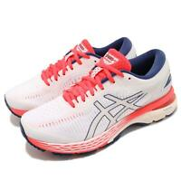 Asics Gel-Kayano 25 D Wide White Pink Blue Women Running Shoes 1012A032-100