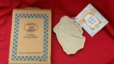 BROWN BAG COOKIE ART Shortbread Mold Pan ANGEL Stoneware with Recipe Book