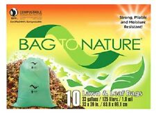 "Indaco, Bag To Nature, 10 Count, 33 Gallon, 33"" x 39 "", Compost Lawn & Leaf Bag"