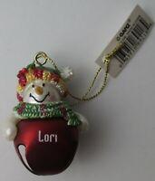Ganz Jingle Bell Snowman Ornament Personalized SUZANNE Great Stocking Stuffer