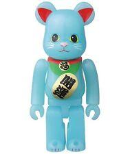 Medicom 33 Bearbrick S33 Animal 100% Blue Lucky Cat Glow in Dark GID be@rbrick