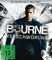 DIE BOURNE VERSCHWÖRUNG 4K 2 ULTRA HD BLU-RAY NEW  MATT DAMON/BRIAN COX/+