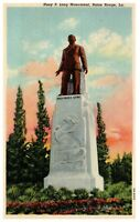 Huey P Long Monument Baton Rouge Louisiana Vintage Linen Post Card