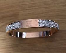 Michael Kors Bracelet Rose Gold Diamonds  Bangle Come With Pouch