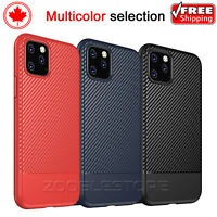 For iPhone 11 / 11 Pro / Max Heavy Duty Carbon Fiber Soft TPU Slim Cover Case