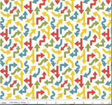 Cruiser Blvd Fabric - White Arrows - Riley Blake Fabric - Half yard - Fabrics4u2