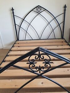 Gothic Style King Size Cast Iron Bed