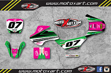 Full Custom Graphic Kit Kawasaki KDX 50 STRIKE GIRL STYLE stickers graphics