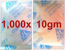 1,000x 10gm Silica Gel Desiccant Moisture Absorber dessicant desicant