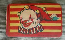 Vintage circa 1940's Paper Toy Squeaker Occupied Japan Clown Accordion