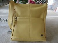 The Sak Lucia Crossbody Yellow Pebble Leather Handbag New