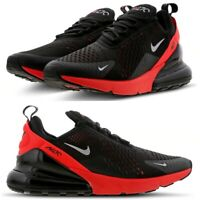 Nike Air Max 270 Mens Trainers Size 10 UK Black Crimson Red Shoes AH8050-026