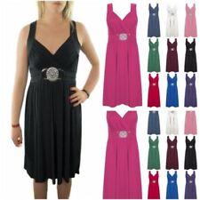 Stretch Sleeveless Wrap Dresses