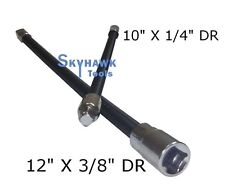 "2pc Flexible Socket Extension 10"" Long 1/4"" and 12"" Long 3/8"" Socket Bar Ratchet"