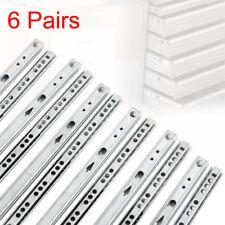 12pcs/6paires Coulisse de Tiroir à billes Roulement rail tiroir Extensible 515mm