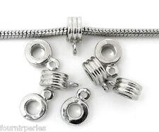 20 Bélière FP Perles Rayure pr Bracelet Charms 9mm