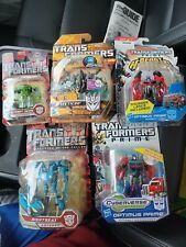 Lot of 5 NEW Transformers Beast Hunters Optimus Prime, Cyberverse, Deception Fig