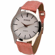 Ladies Fashion Silver HONHX Quartz White Face Pink Band Wrist Watch.(Aussie)