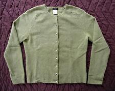 J Crew - EUC light Green button Sweater, Crystal buttons, Wool Angora Nylon, M