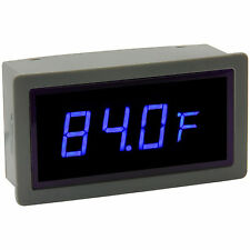 """0.56"""" Digital Blue LED Automobile Thermometer Panel Meter Two External Probes"""