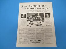1930 Ingram's Shaving Cream A cool $5000 and a cool shave to you! Print Ad PA007