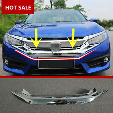 ABS Front Grill Grille Bumper Cover Trim For Honda Civic 4dr Sedan 2016 2017