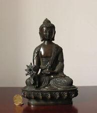Tibet Tibetan Buddhism Bronze Medicine Buddha Old Lucky Statue