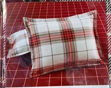 Martha Stewart Deer Pond Plaid Red Flannel Standard Sham