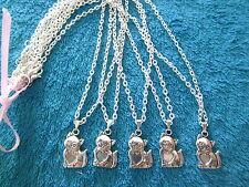 ++ REVENDEUR Lot de 10 Colliers CHAT avec coeur sur chaine++ NEUF  DESTOCKAGE