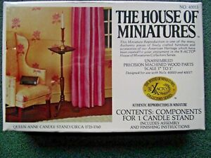 VINTAGE THE HOUSE OF MINIATURES CANDLE STAND MODEL KIT, # 40013