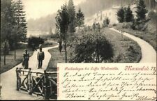 Postcard Ak Marienbad Bohemia Parks Coffee Forest Mill Used 1899 Antique