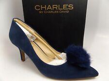 CHARLES BY CHARLES DAVID Women's Sadie Heels Pump, Midnight Suede SZ 8.0 M,12777