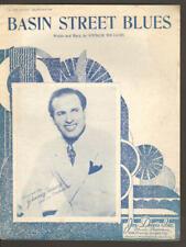 Basin Street Blues 1933 JOHNNIE HAMP Vintage Sheet Music Q24