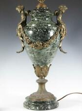 Best Quality French Marble And Gilt Bronze Cherub Mounted Lamp