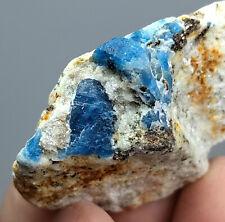 52 GM Fluorescent Afghanite Crystal on Matrix From Badakhshan Afghanistan