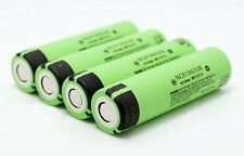 4 pcs 3400mAh Panasonic NCR18650B Lithium Battery 18650 IMR Li-Ion Cell flat top