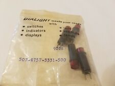 4 Dialco Dialicht 507-4757-3331-500 Rot Blinker Panel Patrone Lampen 5V 20mA