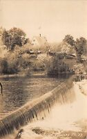 Real Photo Postcard Falls along Sandy River in Phillips, Maine~110888
