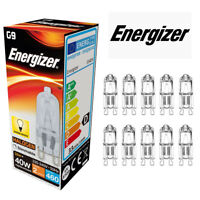 10 X ENERGIZER G9 33W (40W) DIMMABLE Halogen bulb 460lm Warm White Capsule Lamp