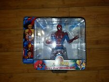 Monogram Marvel Red / Blue Spiderman Paperweight Mib New Free Shipping