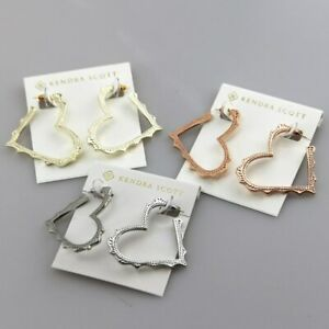 Kendra Scott Sophee Heart Hoop Earrings