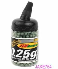 TSD Competition 6mm Plastic BBs, 0.25g, 1,000 Rds, Low Visibility # BB25X1MG